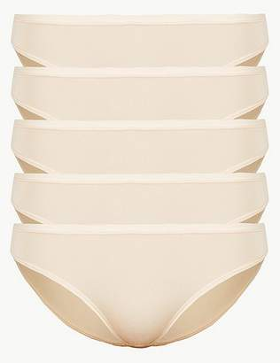 Marks and Spencer 5 Pack No VPL Microfibre Low Rise Bikini Knickers