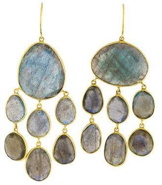 Pippa Small 18K Labradorite Baby Jellyfish Drop Earrings