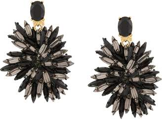 Oscar de la Renta Navette Flowers earrings
