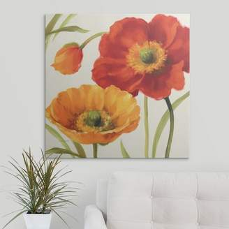 Great Big Canvas 'Poppies Melody III' by Lisa Audit Painting Print Format: Black Frame,