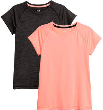 H&M 2-pack Sports Tops - Pink