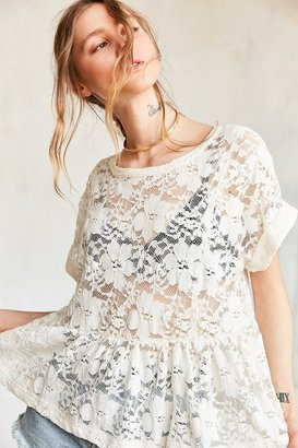 Kimchi Blue Borderlines Babydoll Tee $39 thestylecure.com