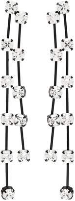 Kenneth Jay Lane Glass crystal fringe drop earrings