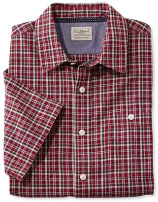 L.L. Bean L.L.Bean Casco Bay Camp Shirt, Short-Sleeve Slightly Fitted Plaid