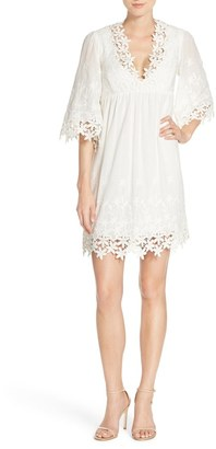 Betsey Johnson Lace Trim Cotton Tunic Dress $148 thestylecure.com