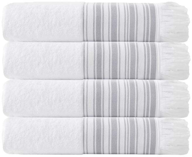 Turko Textile LLC Enchante Home Monaco Set of 4 Turkish Cotton Bath Towels