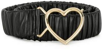 Dolce & Gabbana heart buckle ruched belt