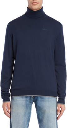Armani Jeans Navy Regular Fit Turtleneck Sweater