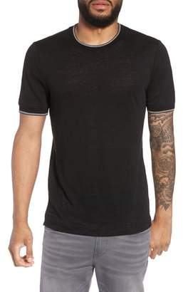 Vince Slim Fit Tipped Linen T-Shirt