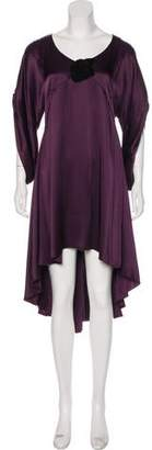 Andrew Gn Long Sleeve Midi Dress