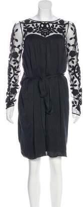 Temperley London Embroidered Silk Dress
