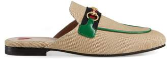Gucci Online Exclusive women's Princetown canvas slipper