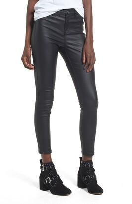 1822 Denim High Waist Coated Skinny Jeans