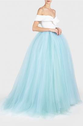 Christian Siriano Off Shoulder Tulle Gown