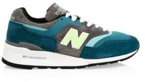 New Balance Men's 997 Suede Sneakers - Blue Green - Size 7.5 D