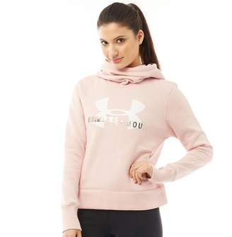 Under Armour Womens Rival Fleece Logo Hoodie Pink