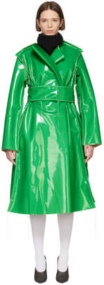 Marni Green Vinyl Coat