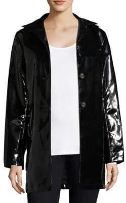 Jane Post High Shine Slicker Coat