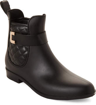 Henry Ferrera Black Clarity Quilted Short Rain Boots