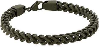 Men's Steel Curb Chain with Military Green Finish