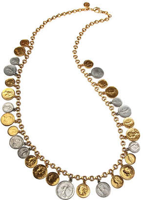 Ben-Amun Long Multi-Coin Necklace