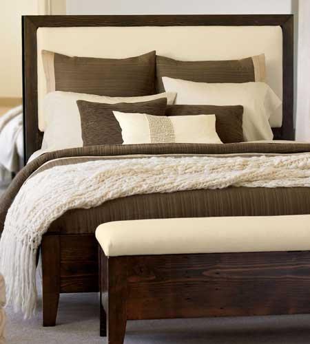 Honey Upholstered Bed