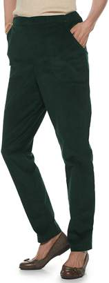 Croft & Barrow Petite Pull-On Corduroy Pant
