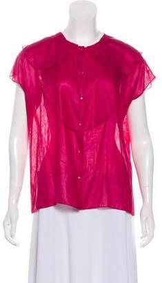 Chloé Semi-Sheer Silk Top