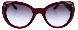 Bvlgari Embellished Cat-Eye Sunglasses