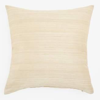 Varanasi Raw Silk Pillow Ivory