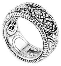 Konstantino Zeus Carved Sterling Silver Band Ring