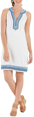 Mud Pie Embroidered Sleeveless Shift Dress $62.99 thestylecure.com