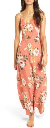 Women's Soprano Floral Strappy Back Maxi Dress $49 thestylecure.com