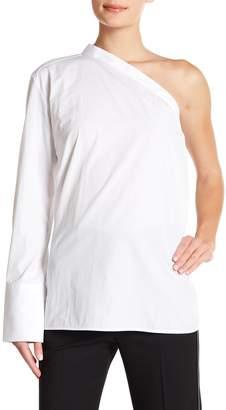 Helmut Lang One-Shoulder Button Front Shirt