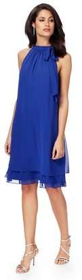 Debut Blue 'Elsa' Knee Length Plus Size Shift Dress