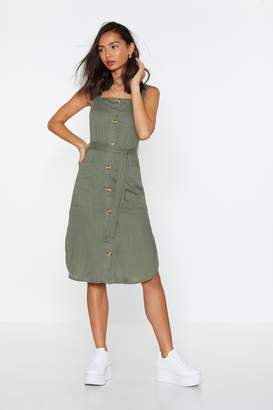 Nasty Gal Lose Control Button-Down Dress