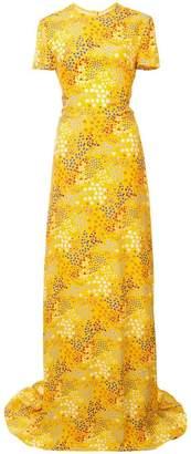 Carolina Herrera mix pattern long dress