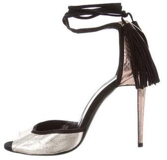 Pierre Hardy Snakeskin Lace-Up Sandals