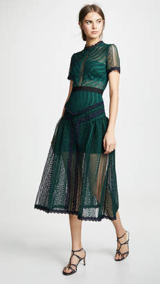 Self-Portrait Self Portrait Wave Lace Dress