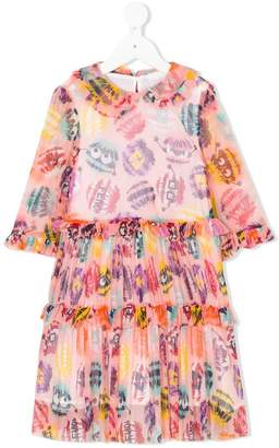 Fendi printed frill dress