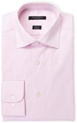 Isaac Mizrahi Pink Stretch Slim Fit Dress Shirt