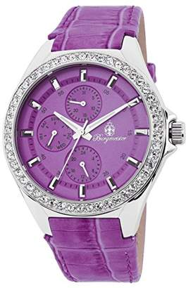 Burgmeister Women's Quartz Watch with Purple Dial Analogue Display and Purple Leather Bracelet BM529-100