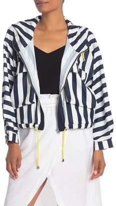 Velvet Heart Stripe Hooded Jacket