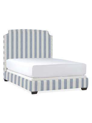 Serena & Lily Tall Fillmore Bed with Nailheads
