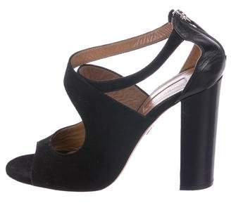 Aquazzura Suede Crossover Sandals
