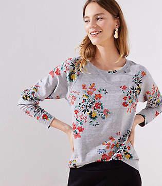 LOFT Winter Bouquet Sweatshirt
