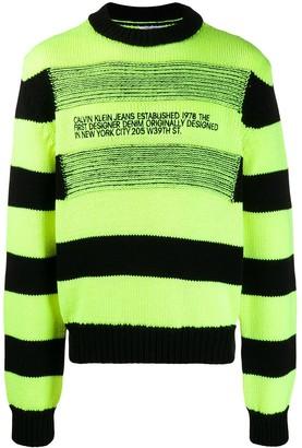 Calvin Klein Jeans Est. 1978 reverse-stripe logo jumper