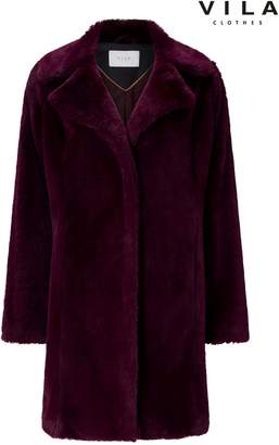 Next Womens Vila Faux Fur Coat