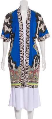 Etro Silk Printed Knit Cardigan