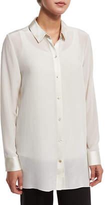 Eileen Fisher Silk Crepe Tunic w/ Major High-Low Hem $166 thestylecure.com
